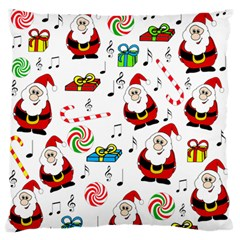 Xmas song Large Flano Cushion Case (One Side)
