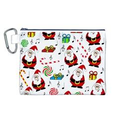 Xmas song Canvas Cosmetic Bag (L)