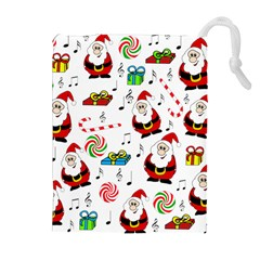 Xmas song Drawstring Pouches (Extra Large)