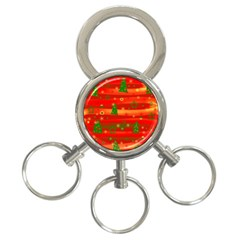 Christmas magic 3-Ring Key Chains
