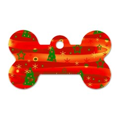 Christmas magic Dog Tag Bone (Two Sides)