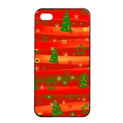 Christmas magic Apple iPhone 4/4s Seamless Case (Black)