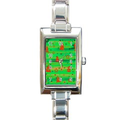 Xmas magical design Rectangle Italian Charm Watch