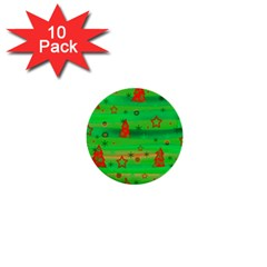 Xmas magical design 1  Mini Buttons (10 pack)