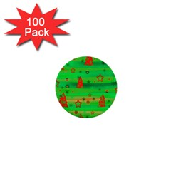 Xmas magical design 1  Mini Buttons (100 pack)