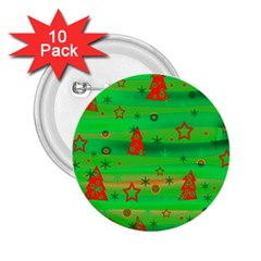Xmas magical design 2.25  Buttons (10 pack)