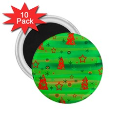 Xmas magical design 2.25  Magnets (10 pack)