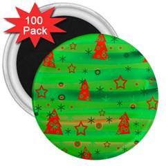 Xmas magical design 3  Magnets (100 pack)