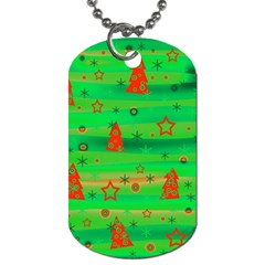 Xmas magical design Dog Tag (Two Sides)