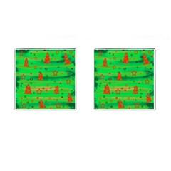 Xmas magical design Cufflinks (Square)