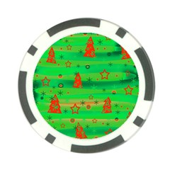 Xmas magical design Poker Chip Card Guards (10 pack)