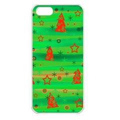 Xmas magical design Apple iPhone 5 Seamless Case (White)