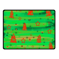 Xmas magical design Double Sided Fleece Blanket (Small)