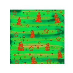 Xmas magical design Small Satin Scarf (Square)