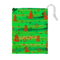 Xmas magical design Drawstring Pouches (Extra Large)