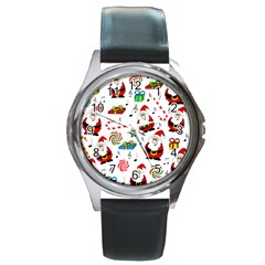 Xmas song Round Metal Watch