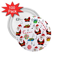 Xmas song 2.25  Buttons (100 pack)