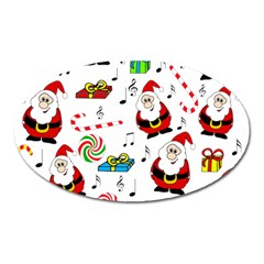Xmas song Oval Magnet
