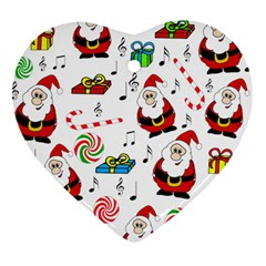 Xmas song Heart Ornament (2 Sides)