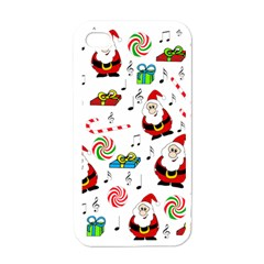 Xmas song Apple iPhone 4 Case (White)