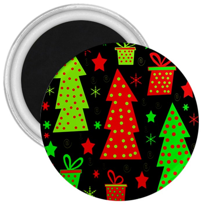 Merry Xmas 3  Magnets