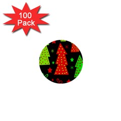 Merry Xmas 1  Mini Buttons (100 pack)