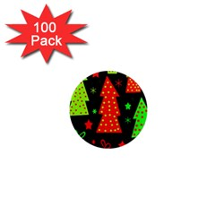 Merry Xmas 1  Mini Magnets (100 pack)