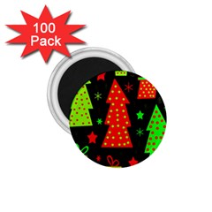 Merry Xmas 1.75  Magnets (100 pack)
