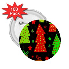 Merry Xmas 2.25  Buttons (100 pack)