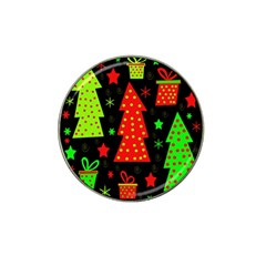 Merry Xmas Hat Clip Ball Marker (10 pack)