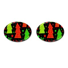 Merry Xmas Cufflinks (Oval)