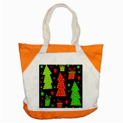 Merry Xmas Accent Tote Bag