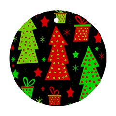 Merry Xmas Round Ornament (Two Sides)