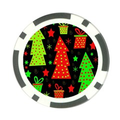 Merry Xmas Poker Chip Card Guards
