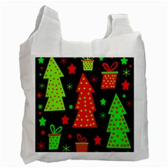 Merry Xmas Recycle Bag (One Side)