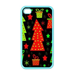 Merry Xmas Apple iPhone 4 Case (Color)