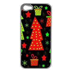 Merry Xmas Apple iPhone 5 Case (Silver)