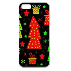 Merry Xmas Apple Seamless iPhone 5 Case (Clear)