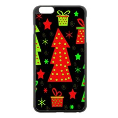 Merry Xmas Apple iPhone 6 Plus/6S Plus Black Enamel Case