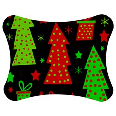 Merry Xmas Jigsaw Puzzle Photo Stand (Bow)