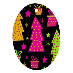 Colorful Xmas Ornament (Oval)