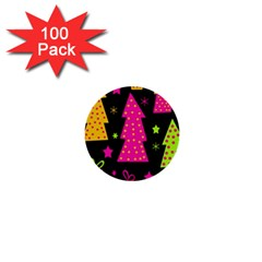 Colorful Xmas 1  Mini Buttons (100 pack)