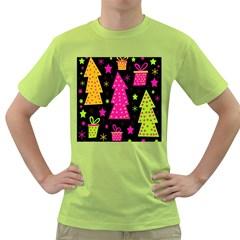Colorful Xmas Green T-Shirt