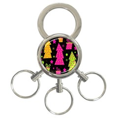 Colorful Xmas 3-Ring Key Chains