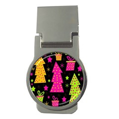 Colorful Xmas Money Clips (Round)