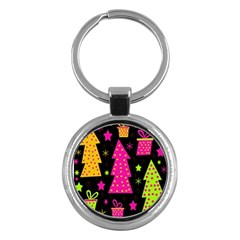 Colorful Xmas Key Chains (Round)