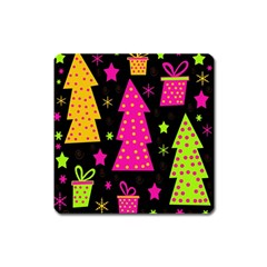 Colorful Xmas Square Magnet
