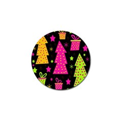 Colorful Xmas Golf Ball Marker (4 pack)