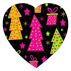 Colorful Xmas Jigsaw Puzzle (Heart)