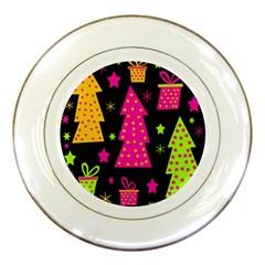 Colorful Xmas Porcelain Plates